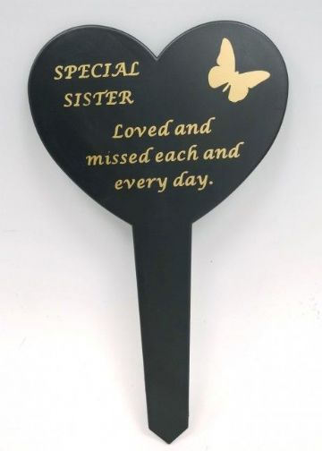 Graveside Memorial Butterfly Stake SPECIAL SISTER DF17917K